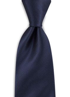 Stropdas donker blauw polyester