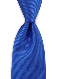 Stropdas polyester kobalt blauw