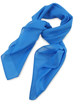 Dames Sjaal Process Blue Polyester