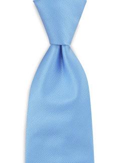 Stropdas polyester licht blauw