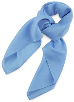 Dames Sjaal Licht Blauw Polyester