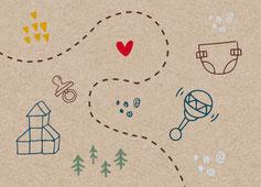 Webstamp kartendings Schweiz Geburtskarte Geburtsanzeige