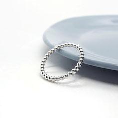 Kügelchenring Silber poliert Ziermittel