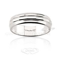 anello bordi lucidi oro bianco