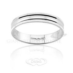 anello lucido oro bianco