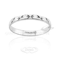 anello satinato oro bianco