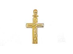 crocifisso in oro bianco e giallo