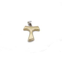croce in oro bianco e giallo