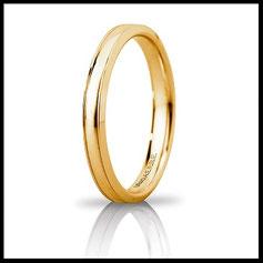 Fede Unoaerre Orion Slim in oro giallo