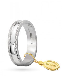 Fedine unoaerre Anemone in oro bianco AF235