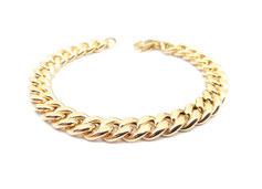 Bracciale catena groumette maglie diamantate in oro 18 kt