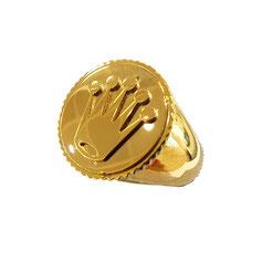 Anello stemma corona in oro giallo gr. 9.10