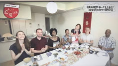 Onigiri cooking class on TV