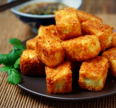 Tofu crujiente (vegano)