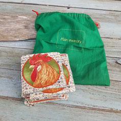 jeu de peche artisanal en tissu avec cannes a aimants pournenfants