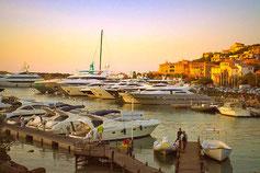 Der Yachthafen von Porto Cervo