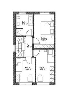 Grundriss-Obergeschoss div Immobilien Ulm und Senden