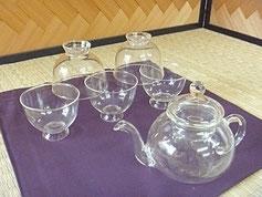 手作り ガラス 煎茶碗 後手