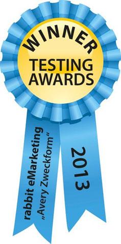WhichTestWon Award - Auszeichnung für professionelle E-Mail Marketing Services