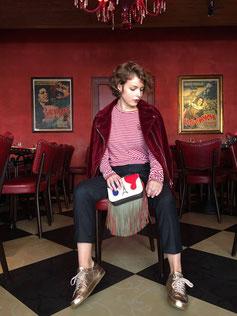 Modeshooting in einem Restaurant