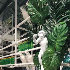 Jungle Dekoration im Edeka Bremen