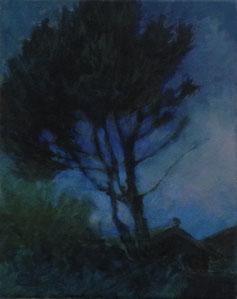 Kiefer, Öl/Leinwand, 30 x 24 cm, 2018