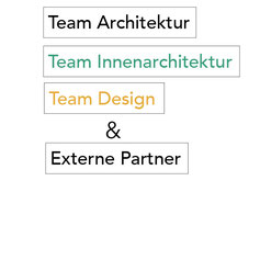 Team Architektur, Team Innenarchitektur, Team Design, Externe Partner