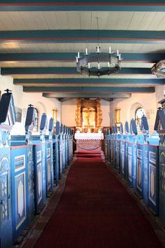 Viele Gruppen der Volkertswarft besuchen die Hallig Kirche auf der Hooger Kirchwarft
