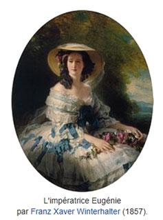 Die Kaiserin Eugénie de Montijo von dem Maler Franz Xaver Winterhalter im Jahre 1857