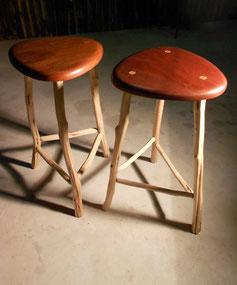 Red cedar & tea tree stools x 2.  $700/pair