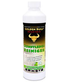 Der biologisch abbaubare Readymix von Golden Bull ist optimal auf die Kunstleder-Reinigung & Pflege abgestimmt.