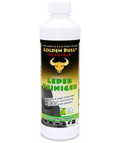 Der biologisch abbaubare Readymix von Golden Bull ist optimal auf die Ledersitzreinigung & Pflege von Glattleder abgestimmt.
