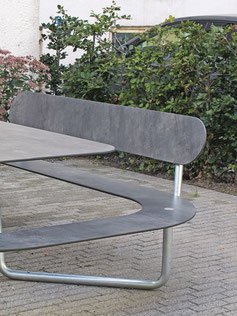 Rückenlehne für SitzTisch aus HPL