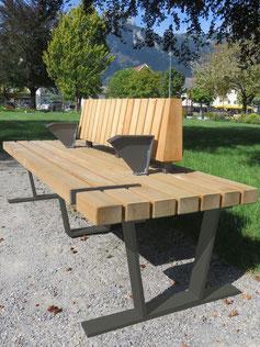 Tantris 1 Multifunktionsbank aus Stahl und Holz