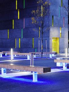 Castor LED-Langfeldbank