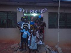 Mein Geburtstag in Ghana