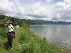 Ein Ausritt am Lake Bosumtwi