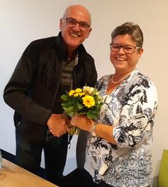 Herzlichen Dank an Anmone Heles, die viele Jahre die Schatzmeisterin des Vereins war. Sie ist die neue Vizepräsidentin.