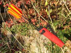 Köcher mit Pfeilen eines Bogenschützen in Esslingen