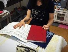 札幌市白石区ピアノ教室松下恭子音楽教室では、和声のレッスンの様子です。