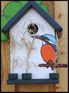 Houten nestkastjes - zakelijk touch, IJsvogel, kwekerij , Kingfisher