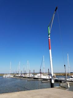 Slipanlage des Yachtclubs