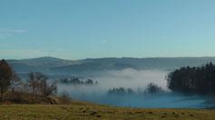 Das Ölschnitztal liegt im Nebel