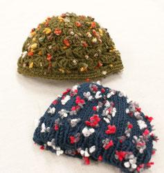 ニット帽(毛糸:マキシフラワー)