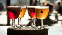 Das gute belgische Bier gibts natürlich erst nach der Tour!