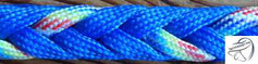 8-fach Herringbone (Vierkant), ca. 10/10mm, bis 4 Farben möglich