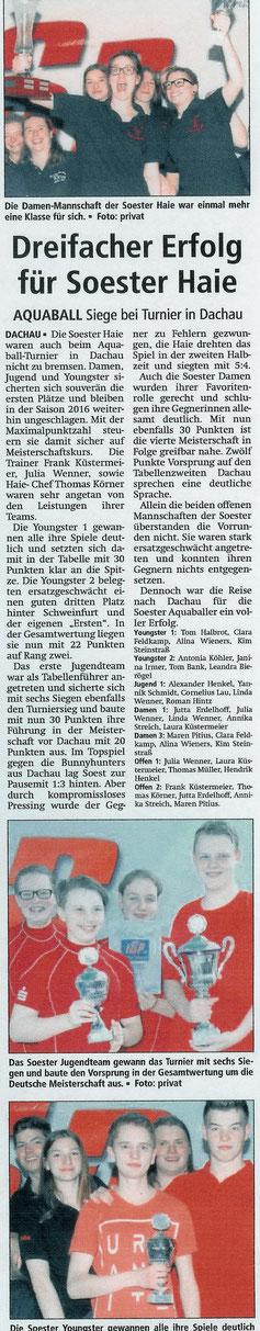 Soester Anzeiger vom 12.04.16