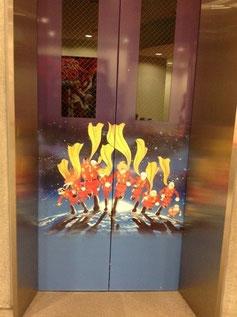 萬画館のエレベーター