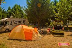 camping gers - les emplacements tente, caravane
