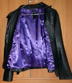 nouvelle doublure d'une veste en cuir